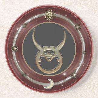 Taurus Zodiac Sign Sandstone Coaster