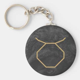 Taurus Zodiac Sign | Custom Background Basic Round Button Key Ring
