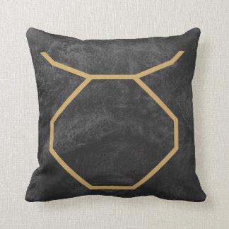 Taurus Zodiac Sign   Custom Background Cushion