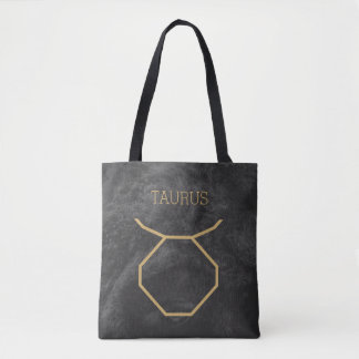 Taurus Zodiac Sign | Custom Background + Text Tote Bag