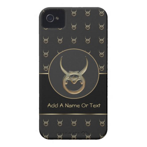Taurus Zodiac Sign Personalized iPhone 4 Cover
