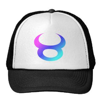 Taurus Zodiac Sign Pink Blue Aqua Gradient Trucker Hat