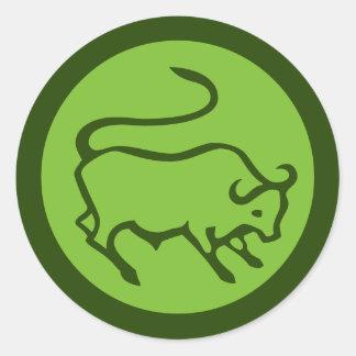Taurus Zodiac Sign Round Sticker