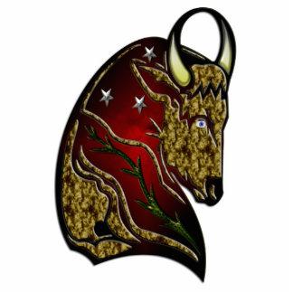 Taurus Zodiac Sign Standing Photo Sculpture