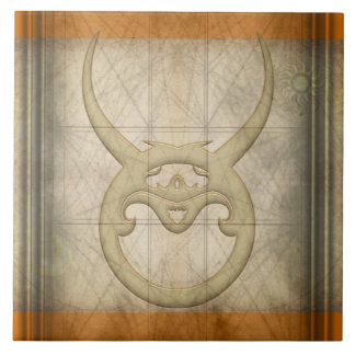 Taurus Zodiac Sign Tile