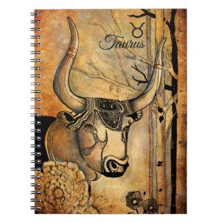 Taurus Zodiac Spiral Notebook