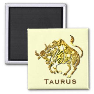 Taurus Zodiac Square Button Magnet