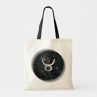 Taurus Zodiac Star Sign Universe Crafts & Shopping Budget Tote Bag