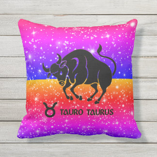Taurus Zodiac Stars Colorful Pillows