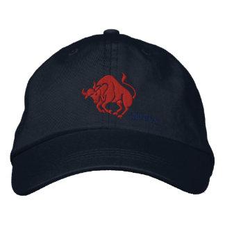 Taurus Zodiac Symbol Embroidery Baseball Cap