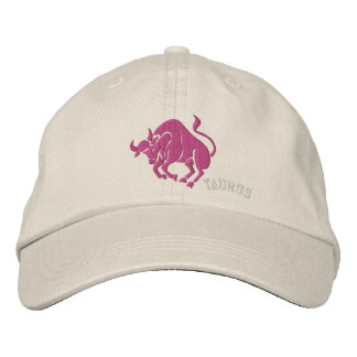Taurus Zodiac Symbol Embroidery Embroidered Baseball Caps