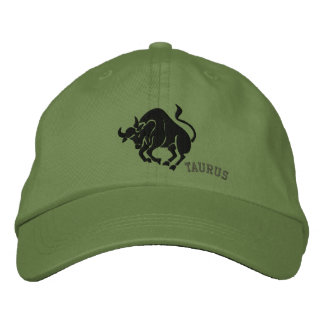 Taurus Zodiac Symbol Embroidery Embroidered Hats