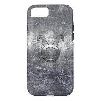 Taurus Zodiac Symbol in Grunge Distressed Style iPhone 7 Case