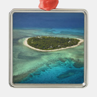 Tavarua Island and coral reef, Mamanuca Islands Christmas Ornament