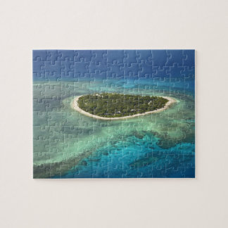 Tavarua Island and coral reef, Mamanuca Islands Jigsaw Puzzle