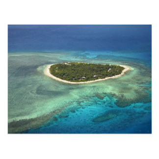Tavarua Island and coral reef, Mamanuca Islands Postcard