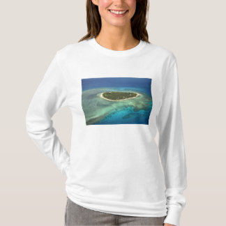 Tavarua Island and coral reef, Mamanuca Islands T-Shirt