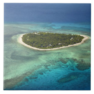 Tavarua Island and coral reef, Mamanuca Islands Tile