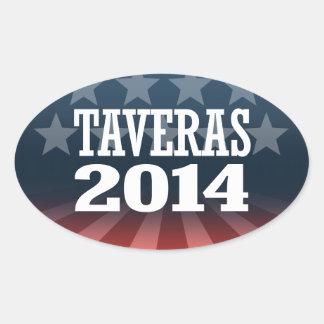TAVERAS 2014 OVAL STICKER