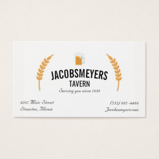 Tavern or Bar Beer Logo Business Card