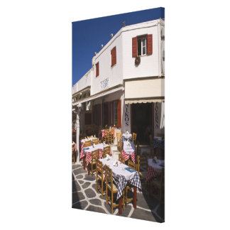 Taverna Nikos, Mykonos, Cyclades Islands, Greece Canvas Print