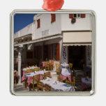 Taverna Nikos, Mykonos, Cyclades Islands, Greece Christmas Tree Ornaments