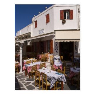 Taverna Nikos, Mykonos, Cyclades Islands, Greece Postcard
