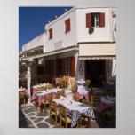 Taverna Nikos, Mykonos, Cyclades Islands, Greece Poster