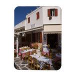 Taverna Nikos, Mykonos, Cyclades Islands, Greece Rectangle Magnets