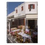 Taverna Nikos, Mykonos, Cyclades Islands, Greece Spiral Notebook