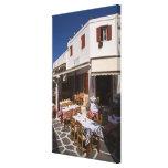 Taverna Nikos, Mykonos, Cyclades Islands, Greece Stretched Canvas Print