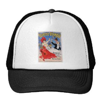 Taverne Olympia Vintage Restaurant Ad Art Trucker Hats
