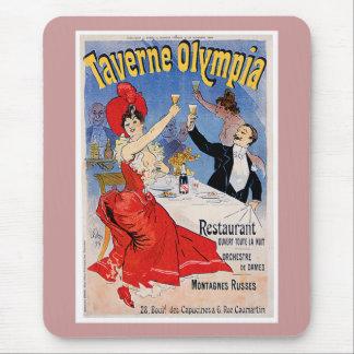 Taverne Olympia Vintage Restaurant Ad Art Mouse Pad