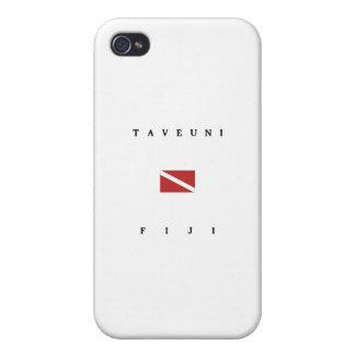 Taveuni Fiji Scuba Dive Flag Cases For iPhone 4