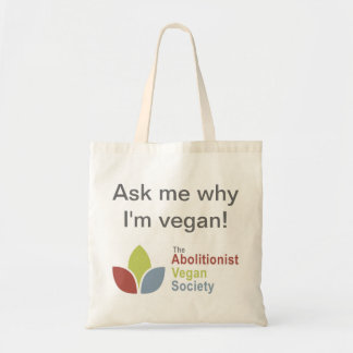 TAVS Tote - Ask me why I'm vegan! - Eng Bag