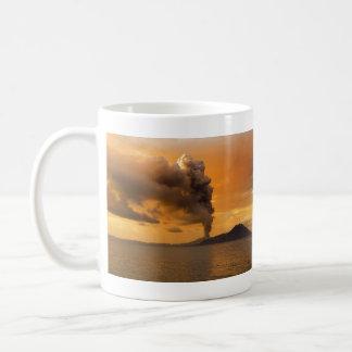 Tavurvur Volcano Rabaul Caldera Erupting Basic White Mug