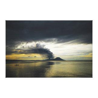 Tavurvur Volcano Rabaul Caldera Erupting Canvas Prints
