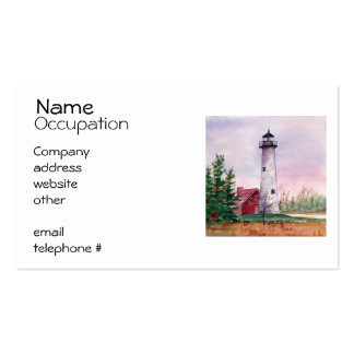 Tawas Point Lighthouse Business Cards