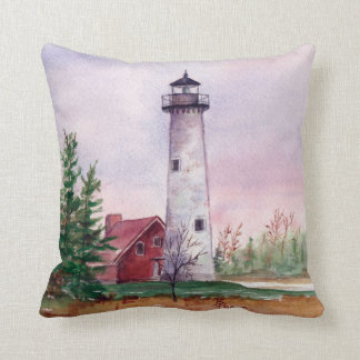 Tawas Point Lighthouse Pillow