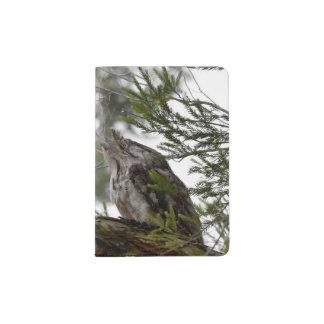 TAWNY FROGMOUTH OWL RURAL QUEENSLAND AUSTRALIA PASSPORT HOLDER