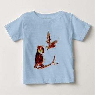 Tawny Owl Art Baby T-Shirt
