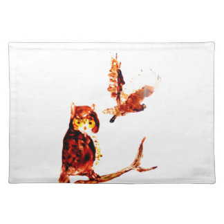 Tawny Owl Art Placemat