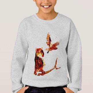 Tawny Owl Art Sweatshirt