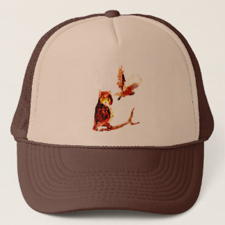Tawny Owl Art Trucker Hat
