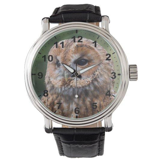 """""""Tawny Owl"""" design wrist watch"""