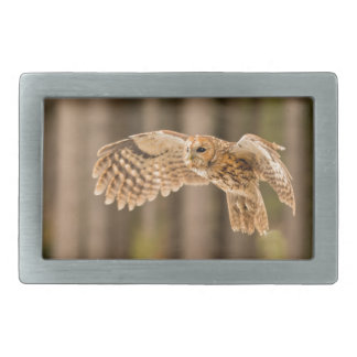 Tawny Owl in flight. Belt Buckles