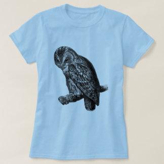Tawny Owl Owls Bird Vintage Wood Engraving T Shirts