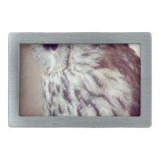 Tawny Owl Painting Rectangular Belt Buckle