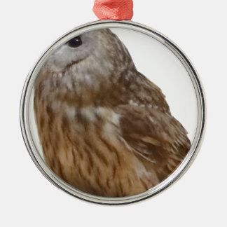 Tawny Owl pattern Christmas Ornament