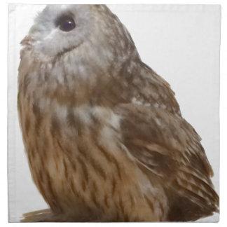 Tawny Owl pattern Napkin